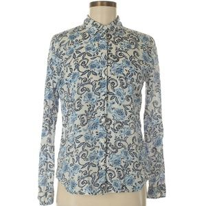 Ann Taylor LOFT Long Sleeve Button-Down Shirt Sz S